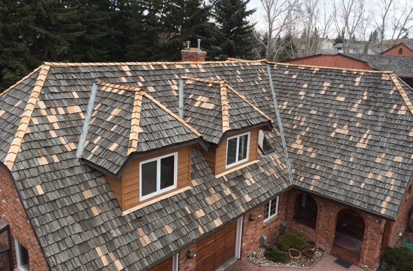Well repaired shakes roof